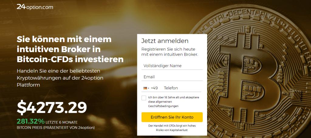 24Option Bitcoin Landing-Page