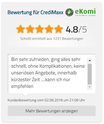ekomi bewertung mit 4,8 von 5 Sternen